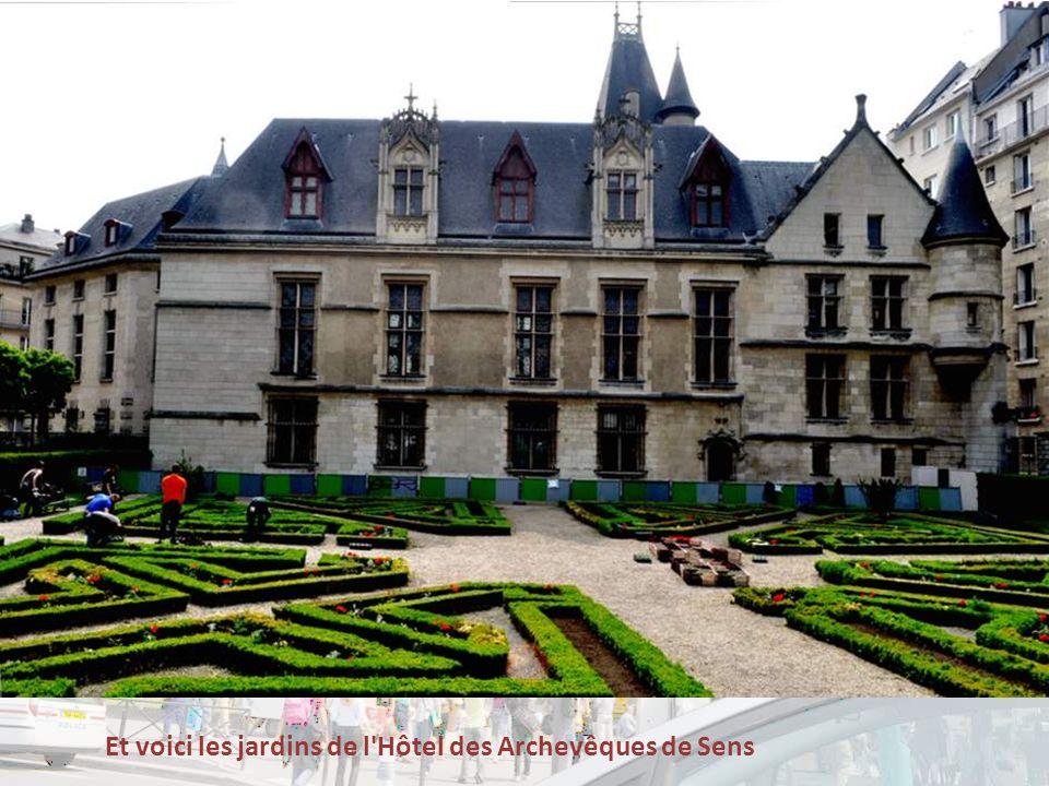 Et voici les jardins de l Hôtel des Archevêques de Sens