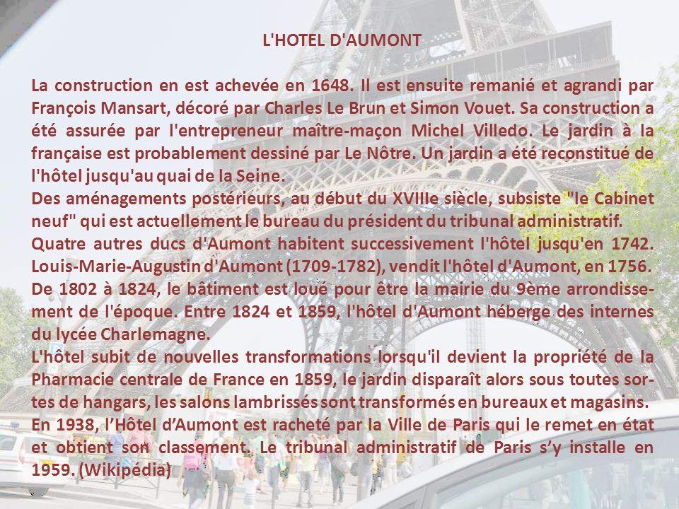 L HOTEL D AUMONT