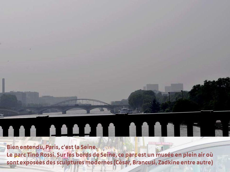 Bien entendu, Paris, c est la Seine.