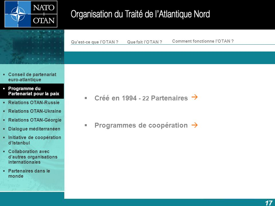 Programmes de coopération