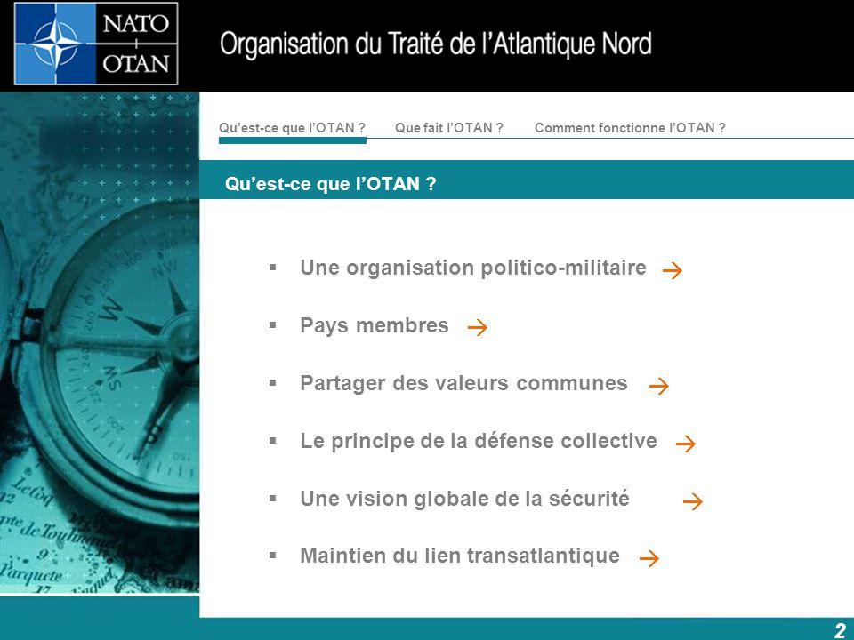 Une organisation politico-militaire Pays membres