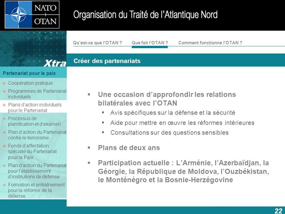 Une occasion d'approfondir les relations bilatérales avec l'OTAN