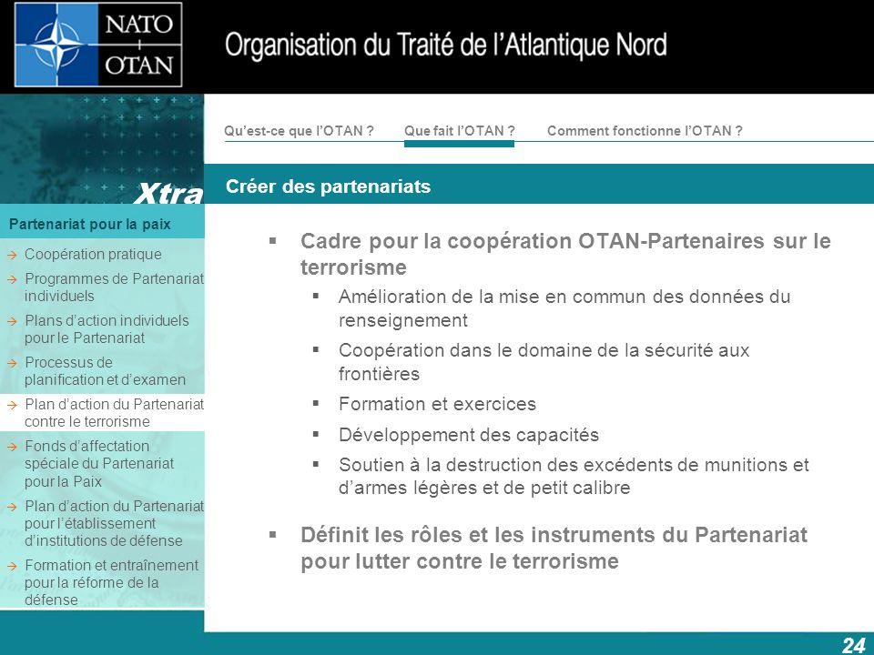 Cadre pour la coopération OTAN-Partenaires sur le terrorisme