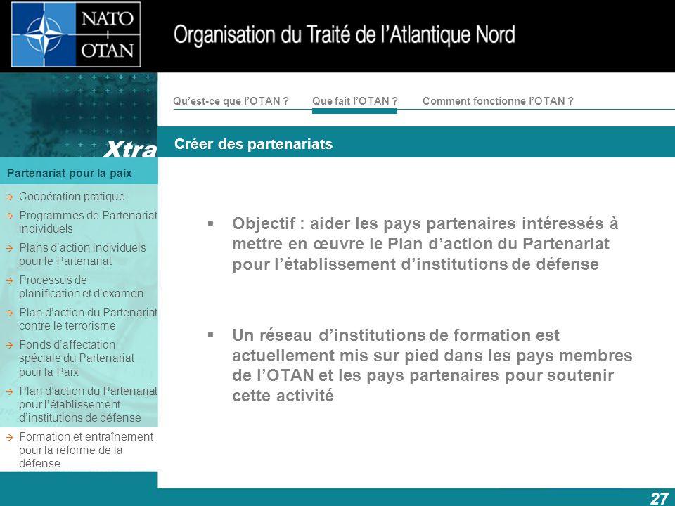Coopération pratique Programmes de Partenariat individuels. Plans d'action individuels pour le Partenariat.