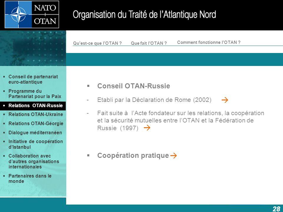 Conseil OTAN-Russie Coopération pratique