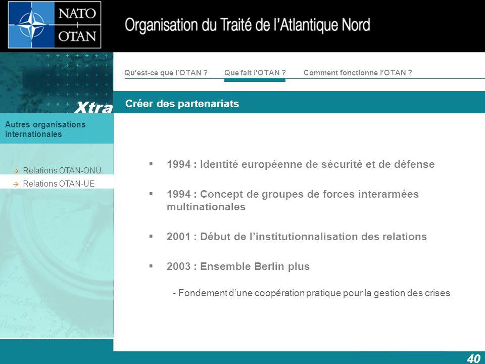 1994 : Identité européenne de sécurité et de défense