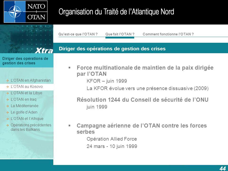 Force multinationale de maintien de la paix dirigée par l'OTAN