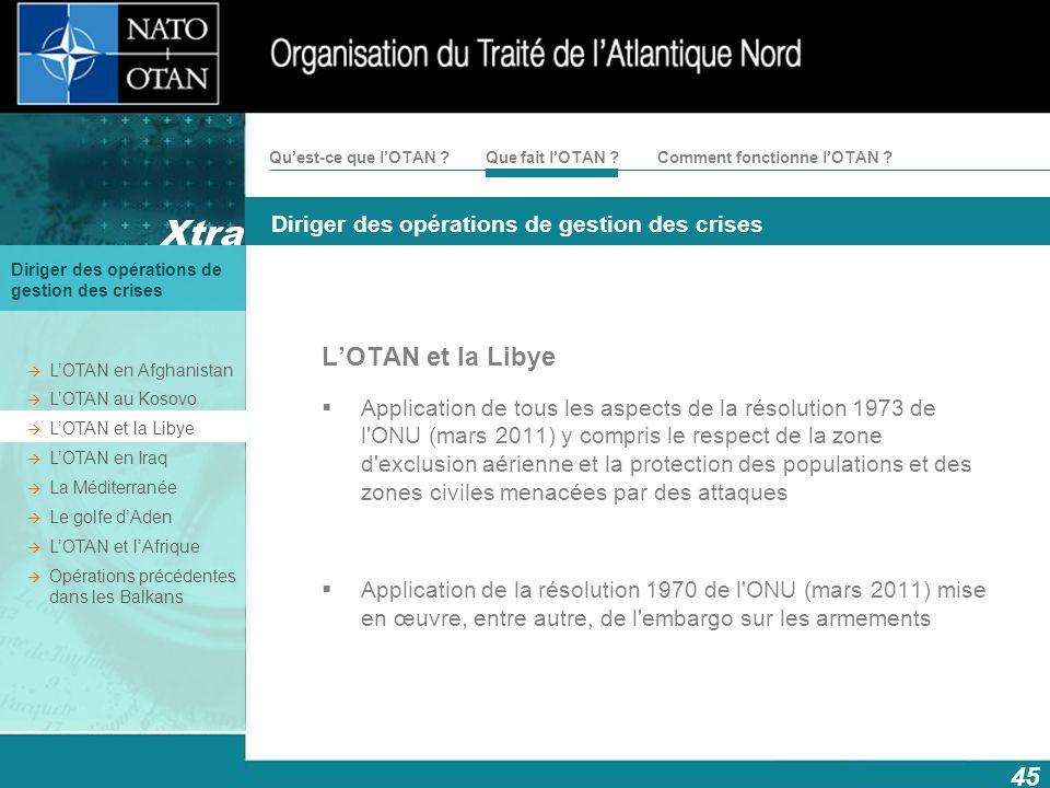 L'OTAN et la Libye