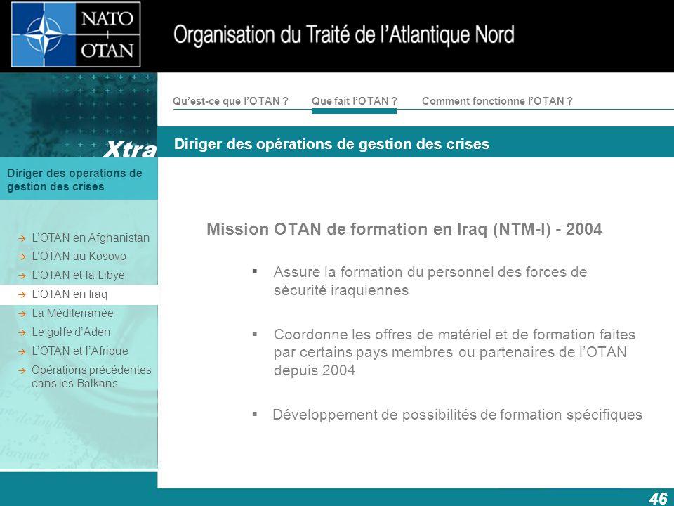 Mission OTAN de formation en Iraq (NTM-I) - 2004