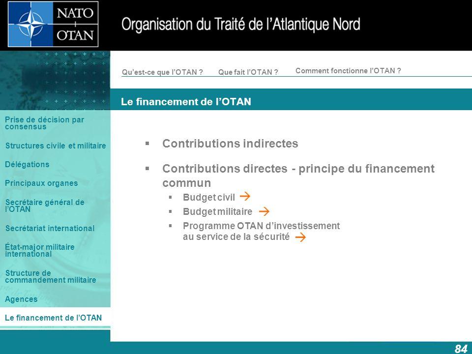 Le financement de l'OTAN