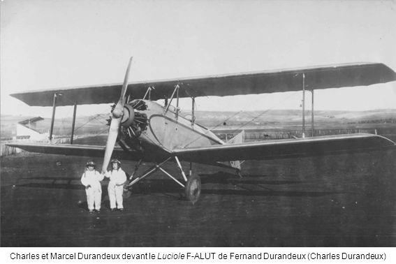 Charles et Marcel Durandeux devant le Luciole F-ALUT de Fernand Durandeux (Charles Durandeux)