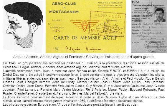 Antoine Assorin, Antoine Algudo et Ferdinand Serviès, les trois présidents d'après-guerre