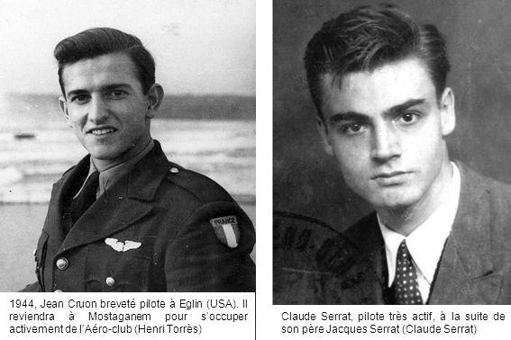 1944, Jean Cruon breveté pilote à Eglin (USA)