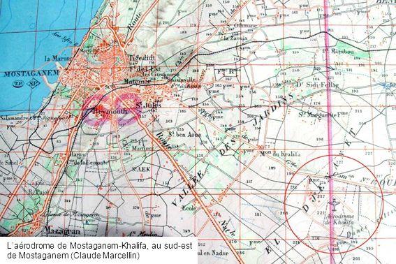 L'aérodrome de Mostaganem-Khalifa, au sud-est de Mostaganem (Claude Marcellin)