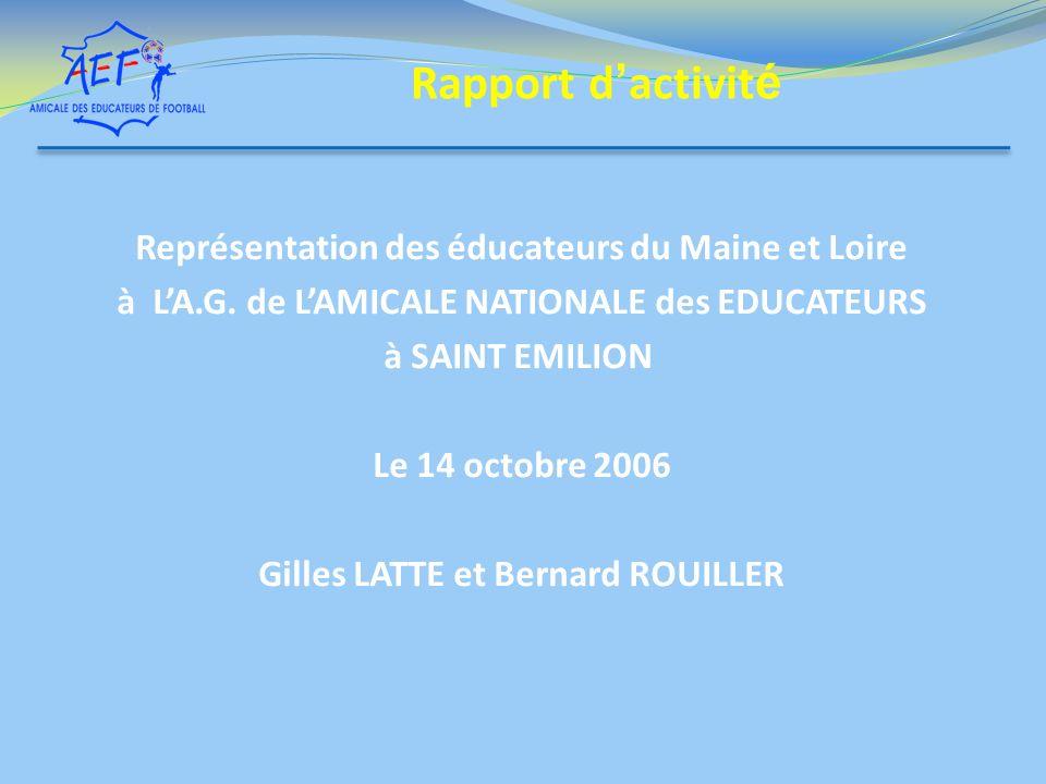 Rapport d'activité Représentation des éducateurs du Maine et Loire