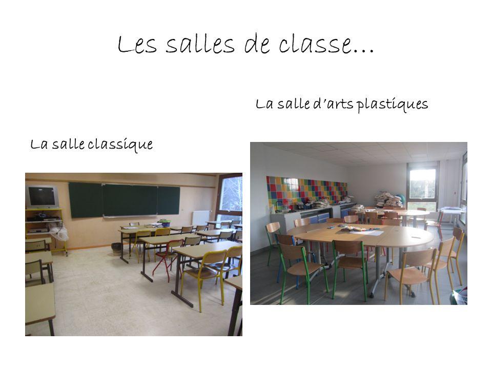 Les salles de classe… La salle d'arts plastiques La salle classique