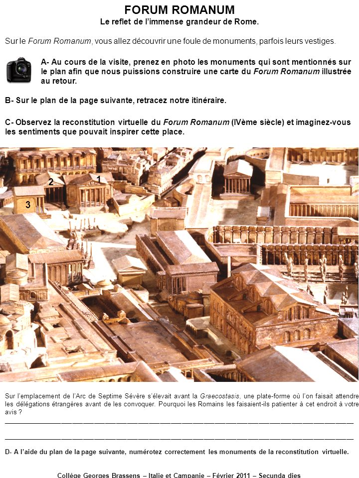 Le reflet de l'immense grandeur de Rome.