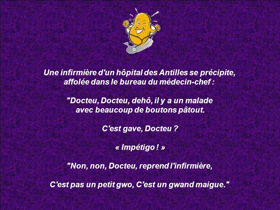 Une infirmière d un hôpital des Antilles se précipite,