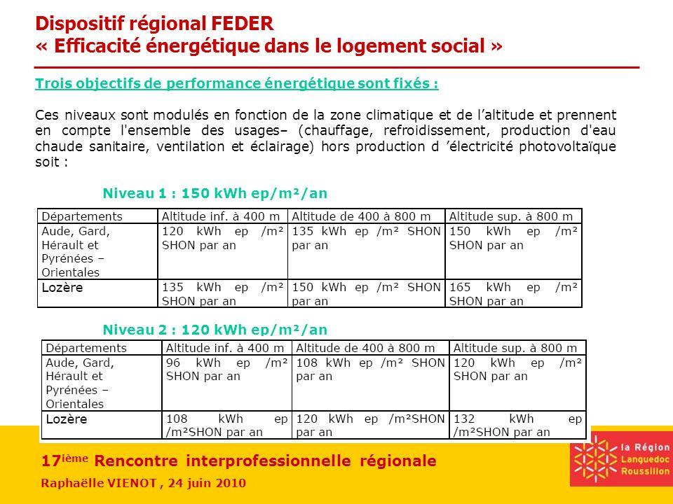 Dispositif régional FEDER « Efficacité énergétique dans le logement social »