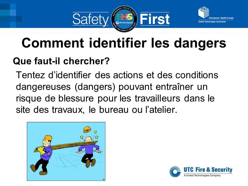 Comment identifier les dangers