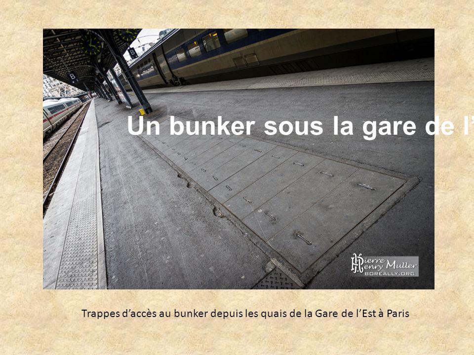 Un bunker sous la gare de l'Est