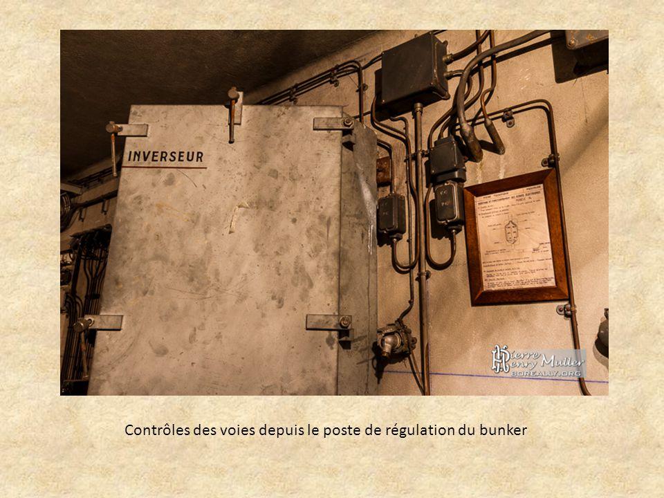 Contrôles des voies depuis le poste de régulation du bunker