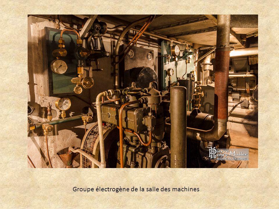 Groupe électrogène de la salle des machines