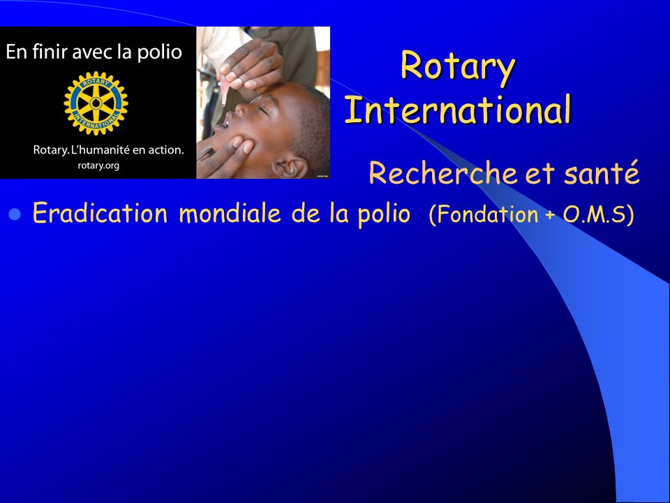 Rotary International Recherche et santé