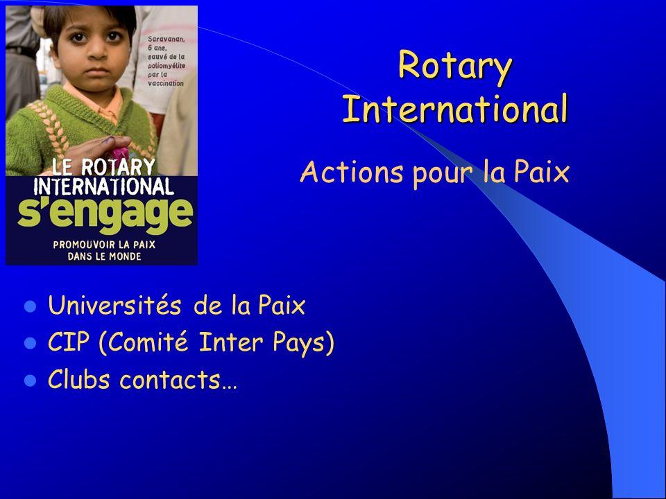 Rotary International Actions pour la Paix Universités de la Paix