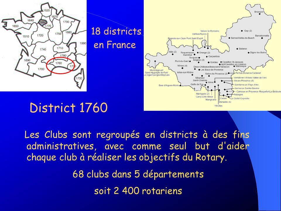 68 clubs dans 5 départements