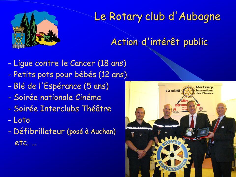 Le Rotary club d Aubagne Action d intérêt public