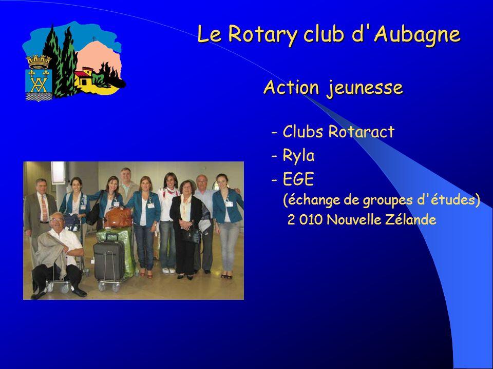 Le Rotary club d Aubagne Action jeunesse