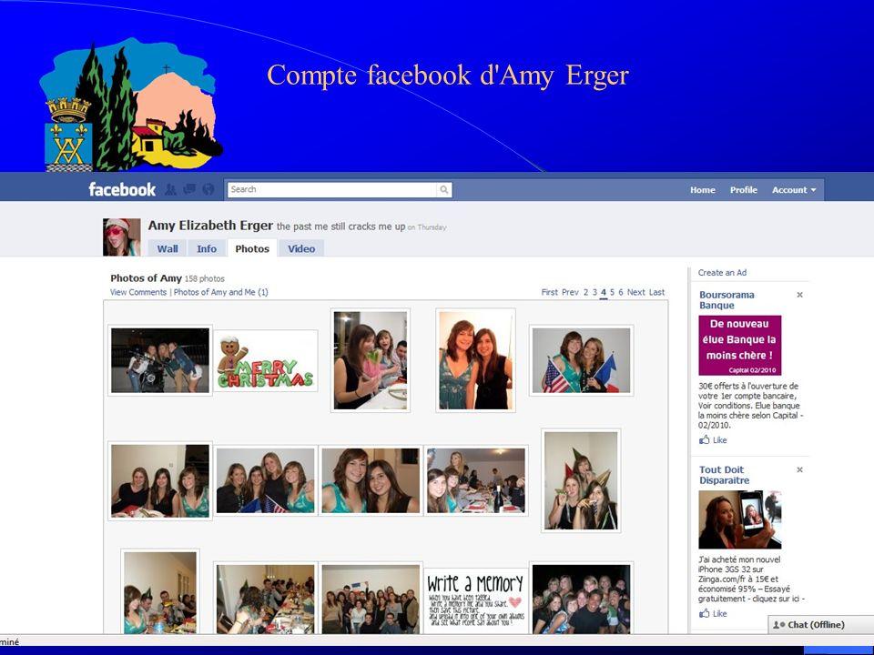 Compte facebook d Amy Erger