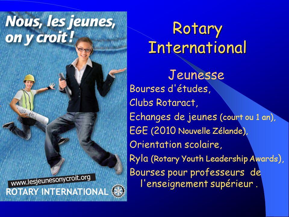Rotary International Jeunesse Bourses d études, Clubs Rotaract,