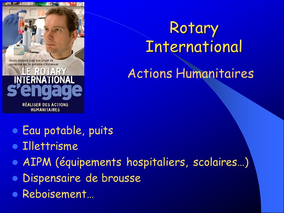 Rotary International Actions Humanitaires Eau potable, puits