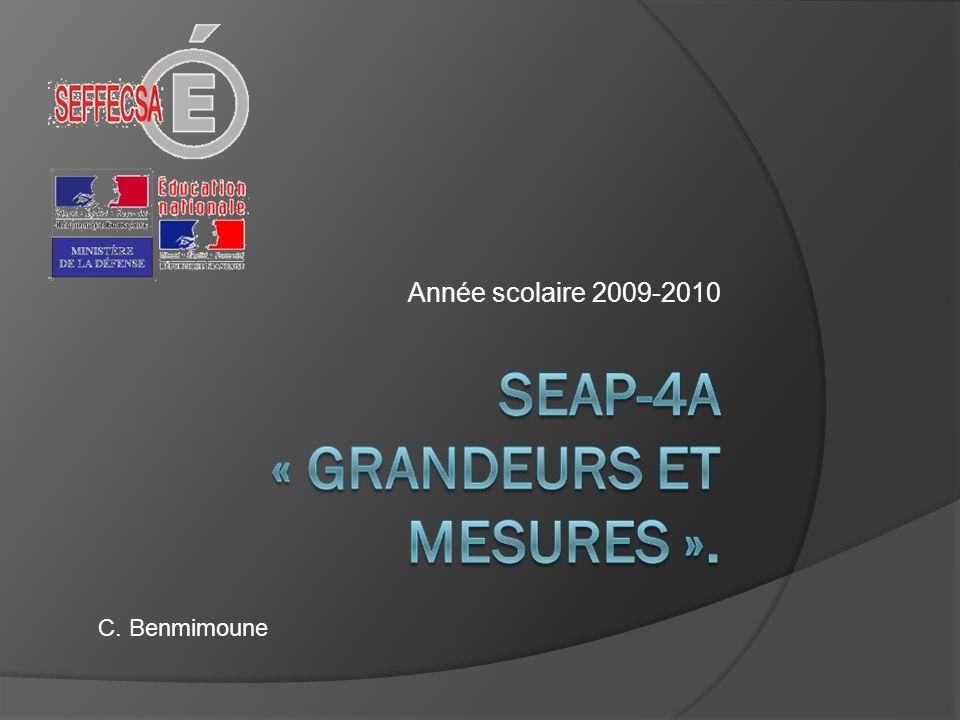Année scolaire 2009-2010 C. Benmimoune