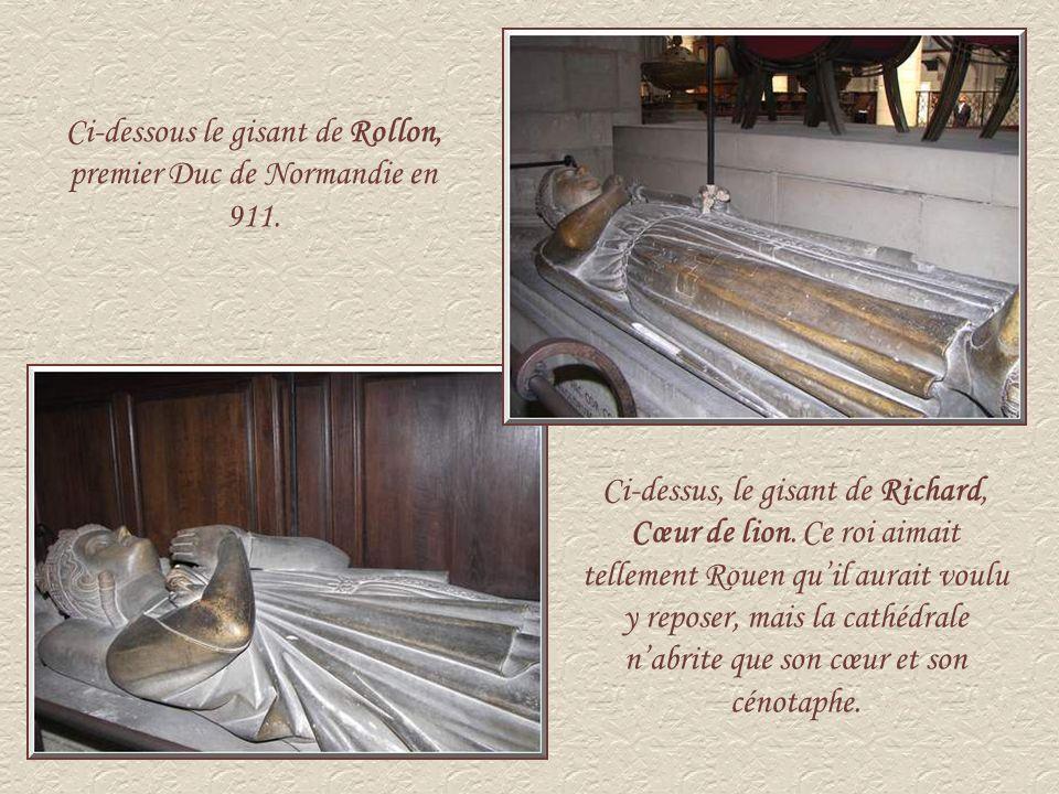 Ci-dessous le gisant de Rollon, premier Duc de Normandie en 911.