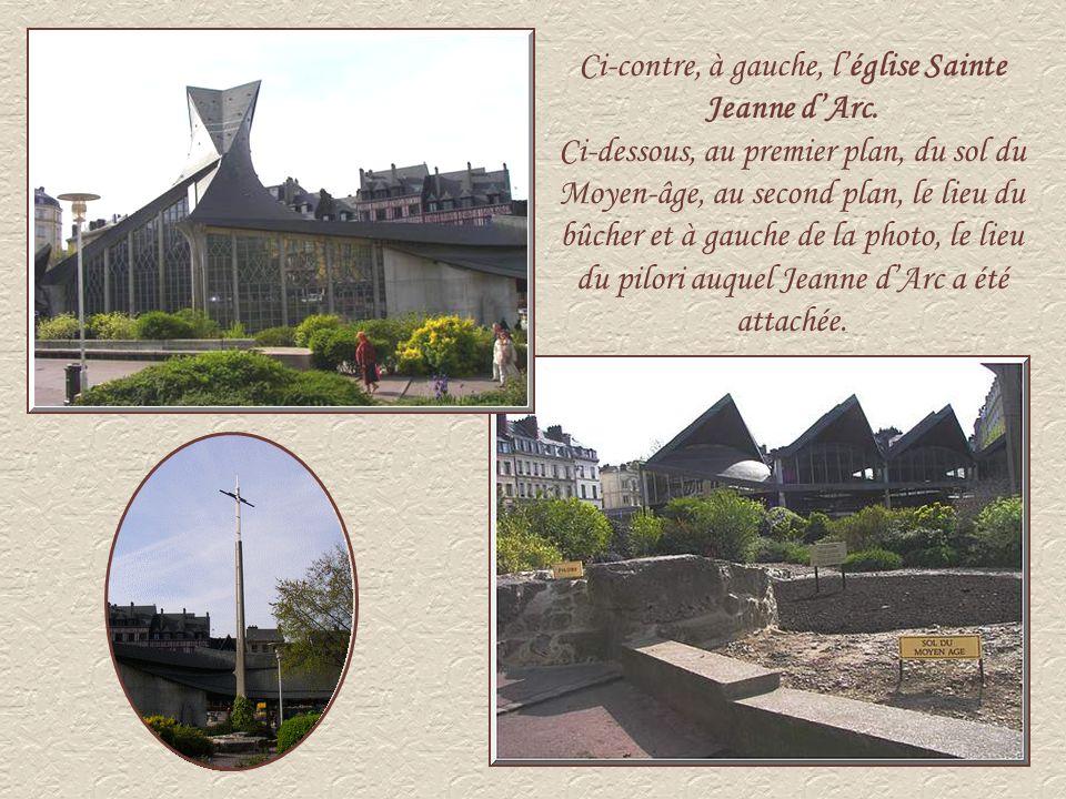 Ci-contre, à gauche, l'église Sainte Jeanne d'Arc.