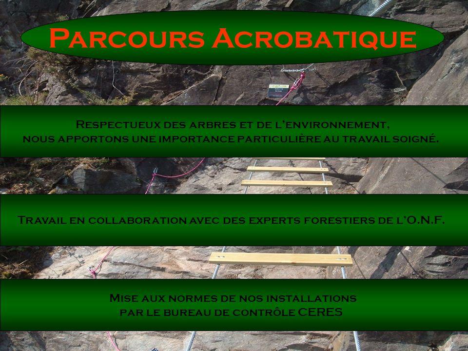Parcours Acrobatique Respectueux des arbres et de l'environnement,