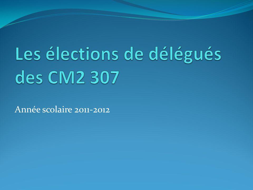 Les élections de délégués des CM2 307