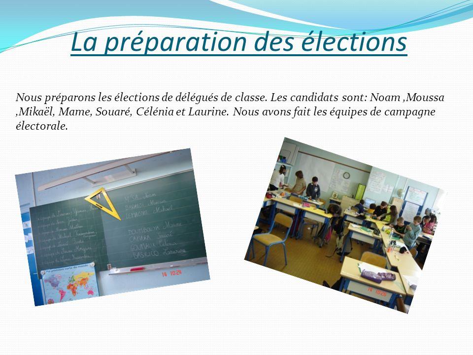 La préparation des élections