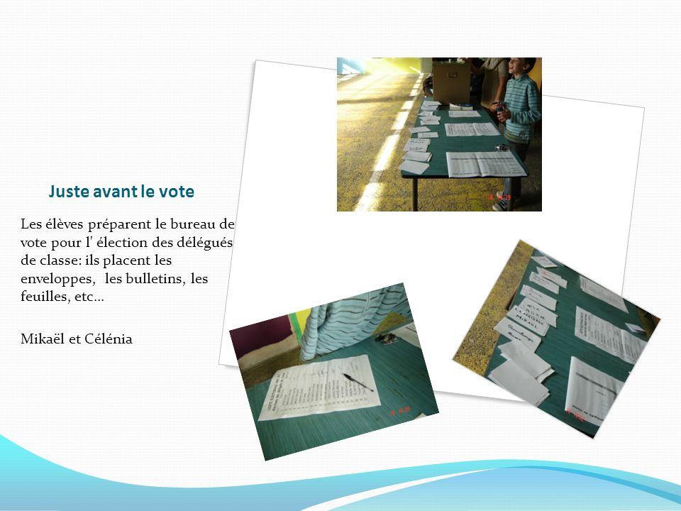 Juste avant le vote