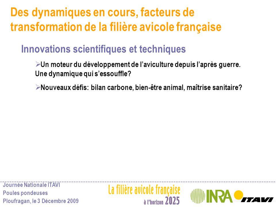 Des dynamiques en cours, facteurs de transformation de la filière avicole française
