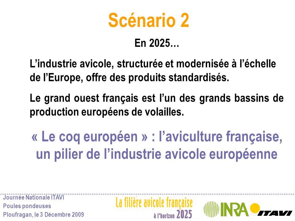Scénario 2 En 2025… L'industrie avicole, structurée et modernisée à l'échelle de l'Europe, offre des produits standardisés.