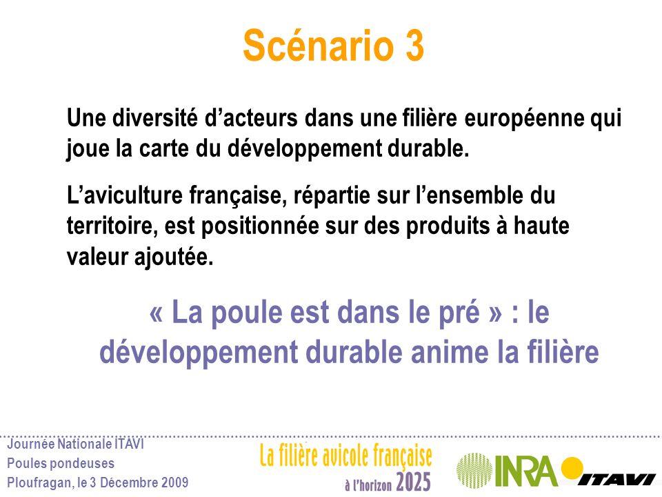 Scénario 3 Une diversité d'acteurs dans une filière européenne qui joue la carte du développement durable.