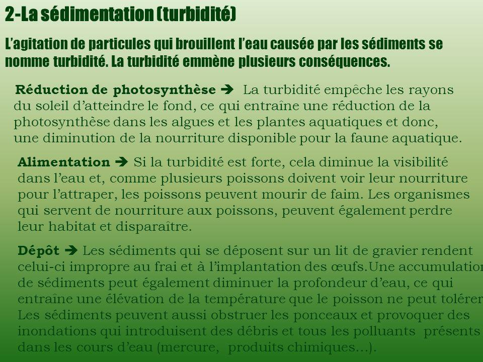 2-La sédimentation (turbidité)