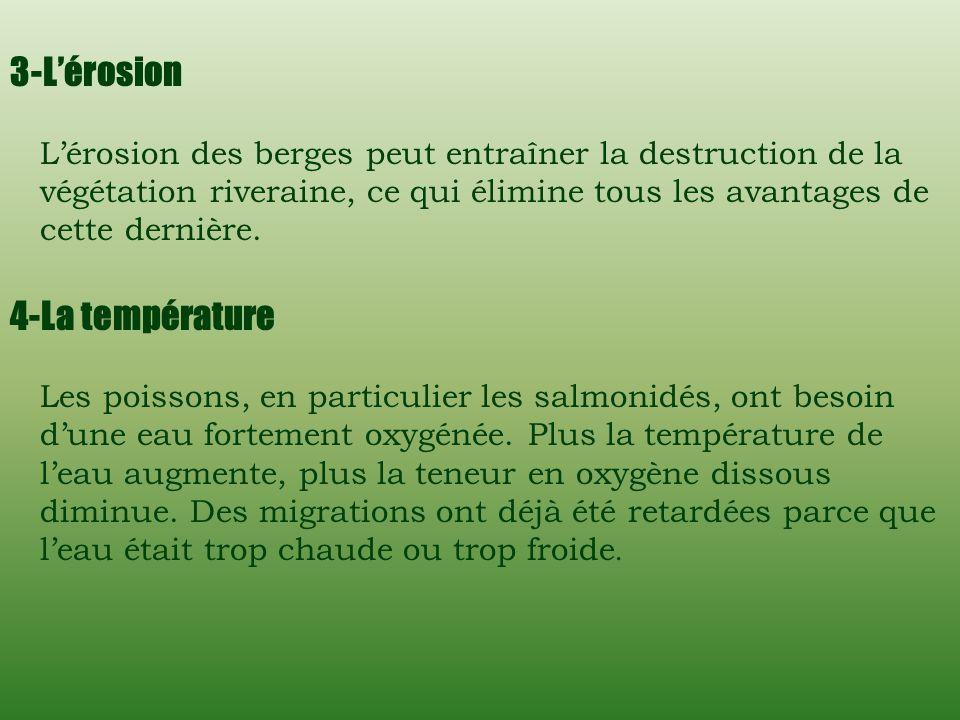 3-L'érosion 4-La température