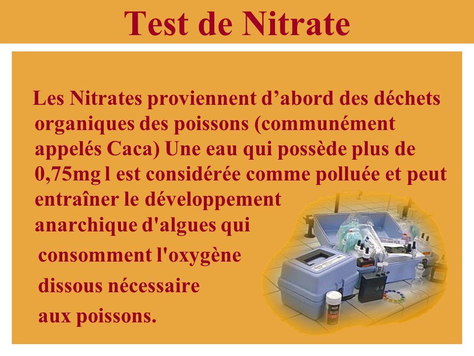Test de Nitrate.