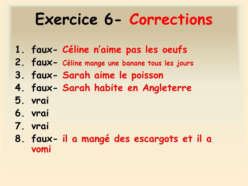 Exercice 6- Corrections