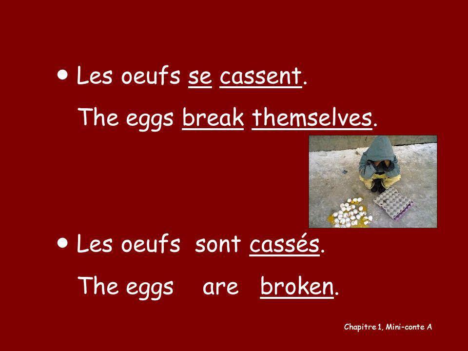 The eggs break themselves.
